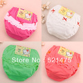 Free Shipping! NEW ARRIVE! Baby Underwear For Girls, Breathable Cotton Decorative Border Children Briefs, Wholesale 10 Pcs/Lot