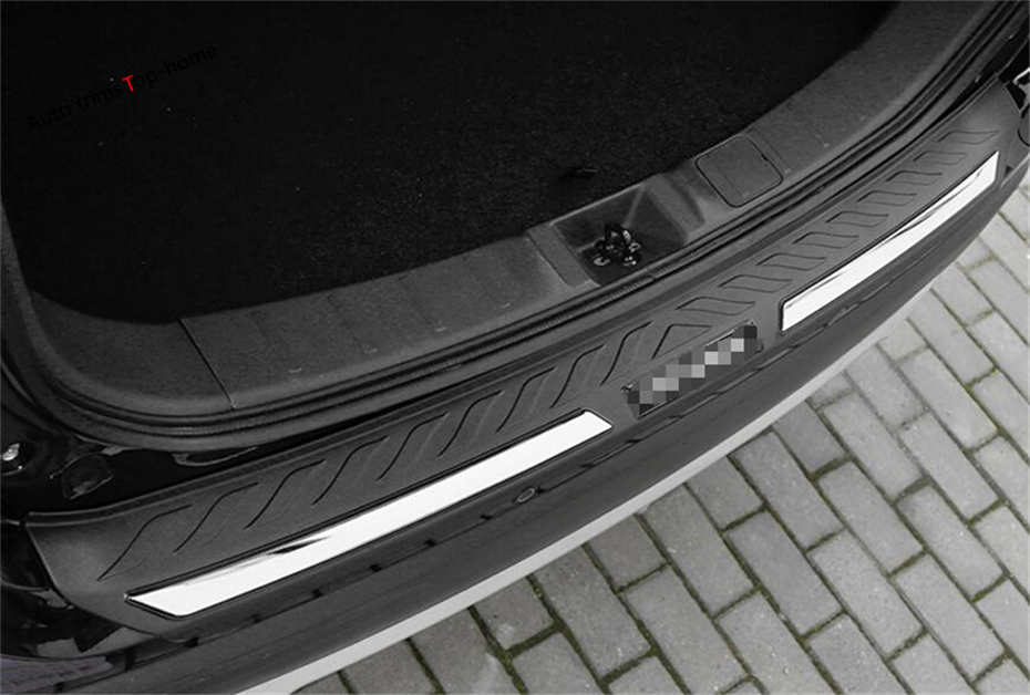 New Style For Mitsubishi Outlander 2015 2016 2017 Rear Bumper Foot Plate Trunk Door Sill Guard Protector Frame Cover Trim 1 Pcs  more fun for kia sorento l 2016 2017 rear bumper inner outer door sill protector plate 2 pcs set