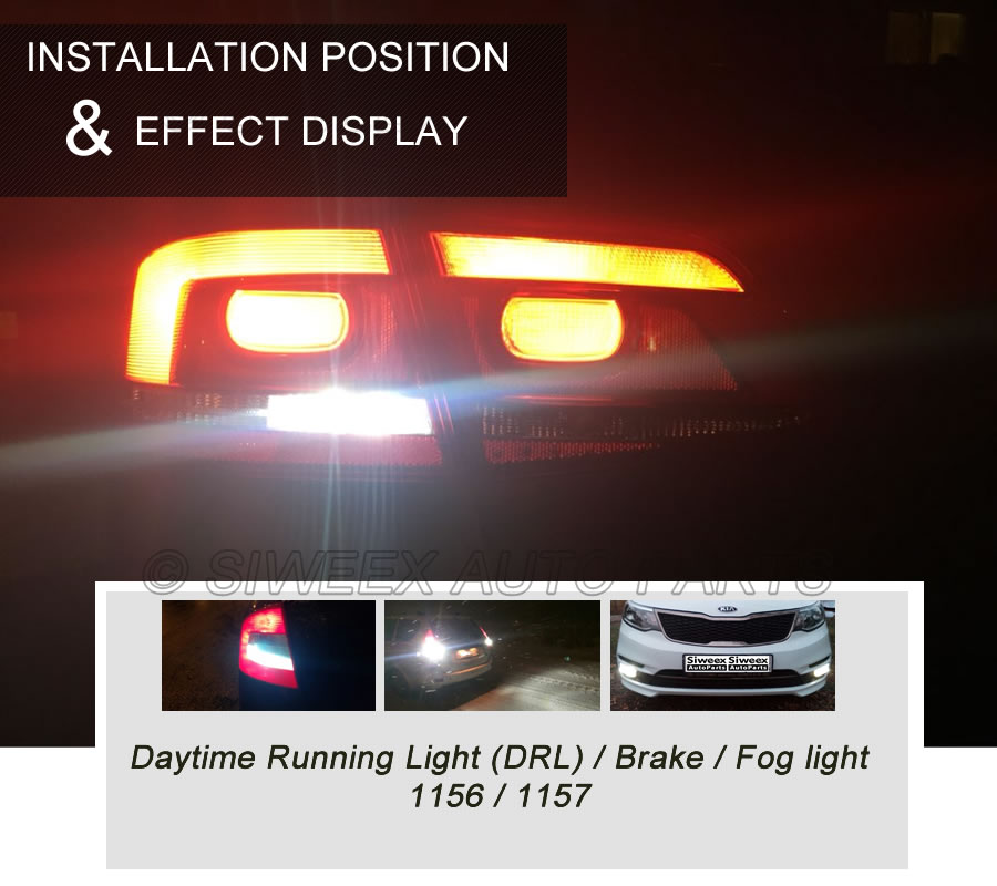 Image 3 - Super White COB P21W 1157  Led 12SMD 1156 BA15S 12V Bulbs ICE BLUE RV Trailer Truck car styling Light parking Auto led Car Lamp-in Car Headlight Bulbs(LED) from Automobiles & Motorcycles