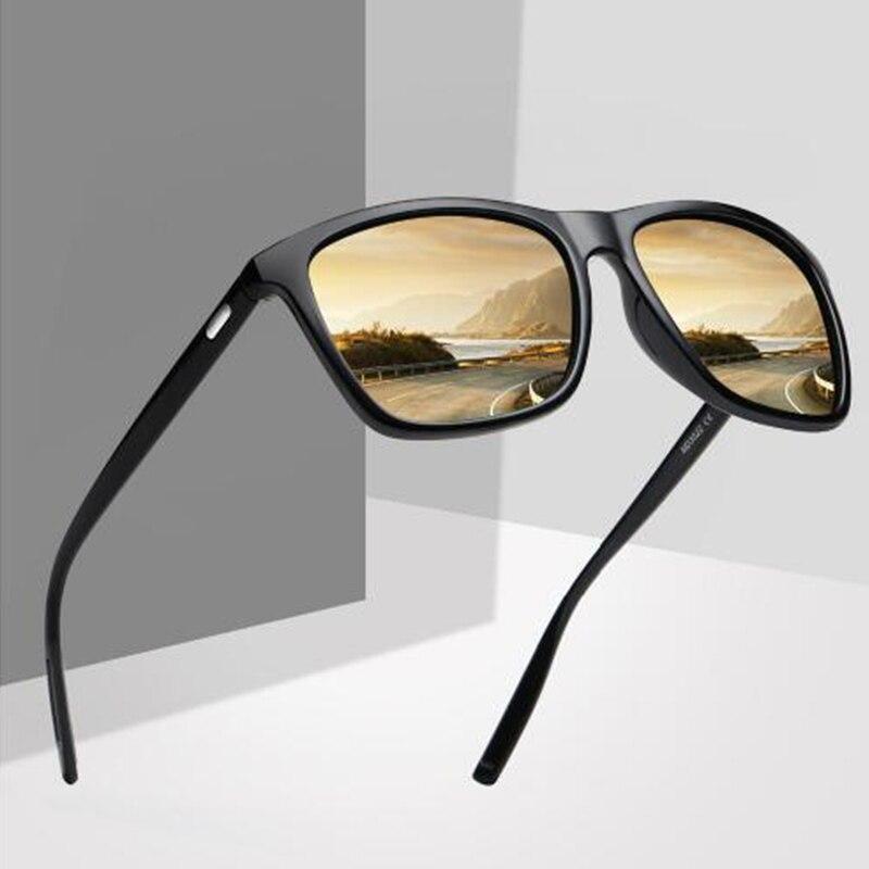 Для мужчин поляризованных солнцезащитных очков дизайн моды площади вождения солнцезащитные очки зеркальные очки Óculos de sol UV400 Gafas