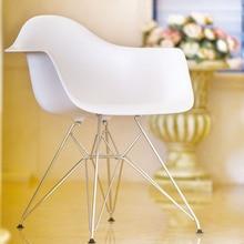 Мебель для гостиной, домашний стол, повседневный пластиковый обеденный стул, кресла для отдыха, Модные Современные хромированные стулья для спальни