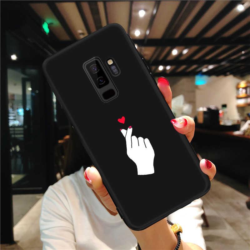 Узор чехол для samsung Galaxy S8 S9 Plus Note 8 9 A8 A6 плюс 2018 A5 A7 2017 черный матовый чехол для samsung 8 J4 J6 A9 S10 S10E