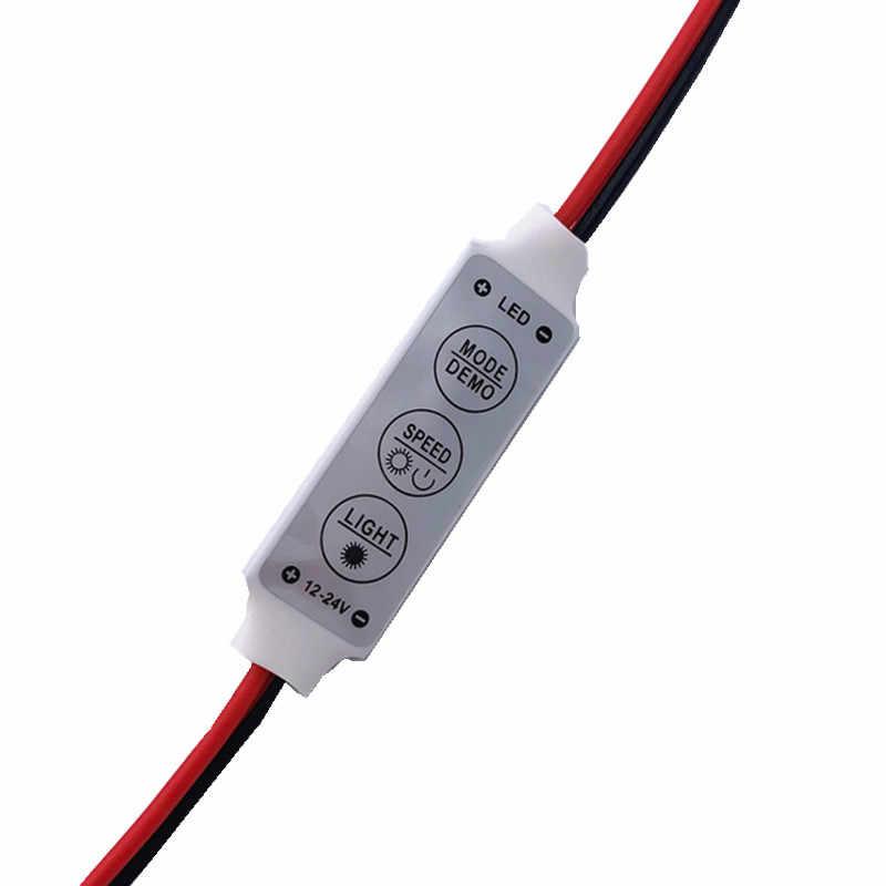 1 шт. DC5-24V мини 3 клавиши одноцветный светодиодный регулятор яркости Диммер для SMD 5050 3528 Светодиодный светильник