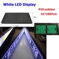 Асинхронный белый из светодиодов дисплей контроллера открытый 41 * 1097 см p10 из светодиодов вывеска