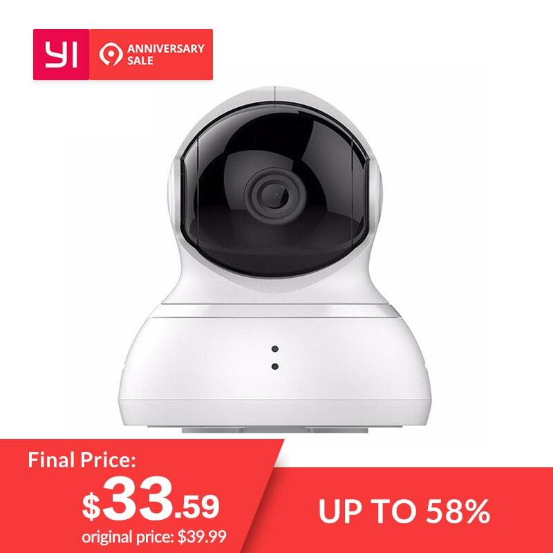 YI caméra dôme Pan/Tilt/Zoom Sans Fil Système de Surveillance de Sécurité IP HD 720 p vision nocturne (US/EU version) YI Nuage Disponibles