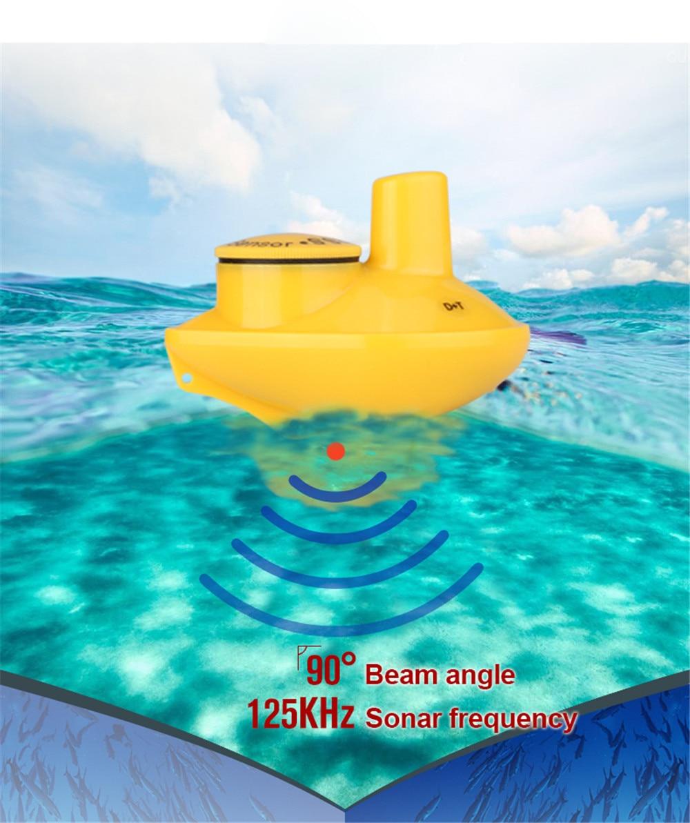 bd4387c8cc7 Relógio de pulso sem fio inventor dos peixes de pesca no gelo 180 Pés (60 m)  gama Eco Sonda De Pesca remoto Portátil sonar sensor fish finder em ...