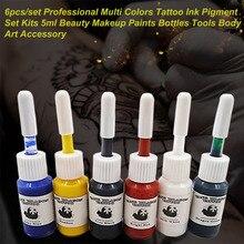 hot deal buy pigment set kits 5ml bottles body 6pcs/set art accessory  professional multi colors tattoo ink hot sale