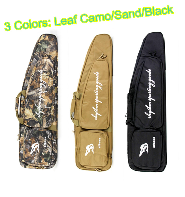 BLK/Tree Leaf/Sand Hunting Tactical Rifle Gun Bag 1000D Oxford Fabric Airsoft Gun Case Shoulder Bag Heavy Duty Gun Carrying Bag blk tree leaf sand hunting tactical rifle gun bag 1000d oxford fabric airsoft gun case shoulder bag heavy duty gun carrying bag