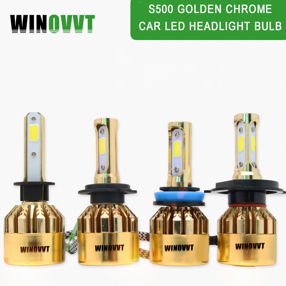 2pcs H4 Hi Lo Beam Led H11 H8 Hb4 H1 H3 Hb3 Auto S6 Car Fog Headlight Bulbs 8000lm Car Styling 6000k Led Automotivo Automobiles & Motorcycles