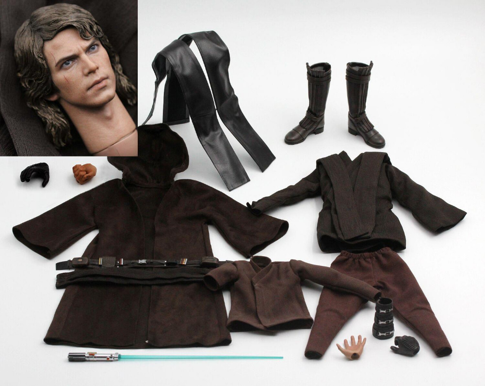 Costume 1 6 Art toys AT012 Anakin Skywalker Clothes Set F 12 Male Figure Body