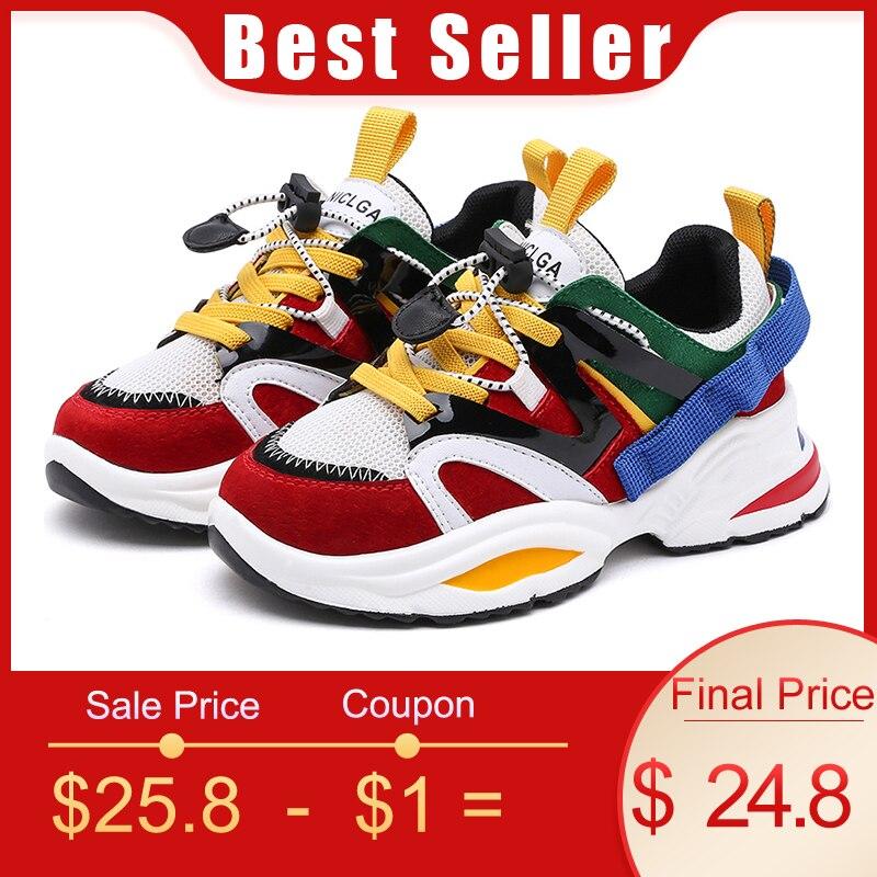 b74c6f195c CCTWINS Kinder Schuhe 2019 Jungen Weiß Schuhe Mädchen Kausalen Leder Sneakers  Kinder Atmungsaktive Schuhe Kleinkind Sport Turnschuhe SS2737