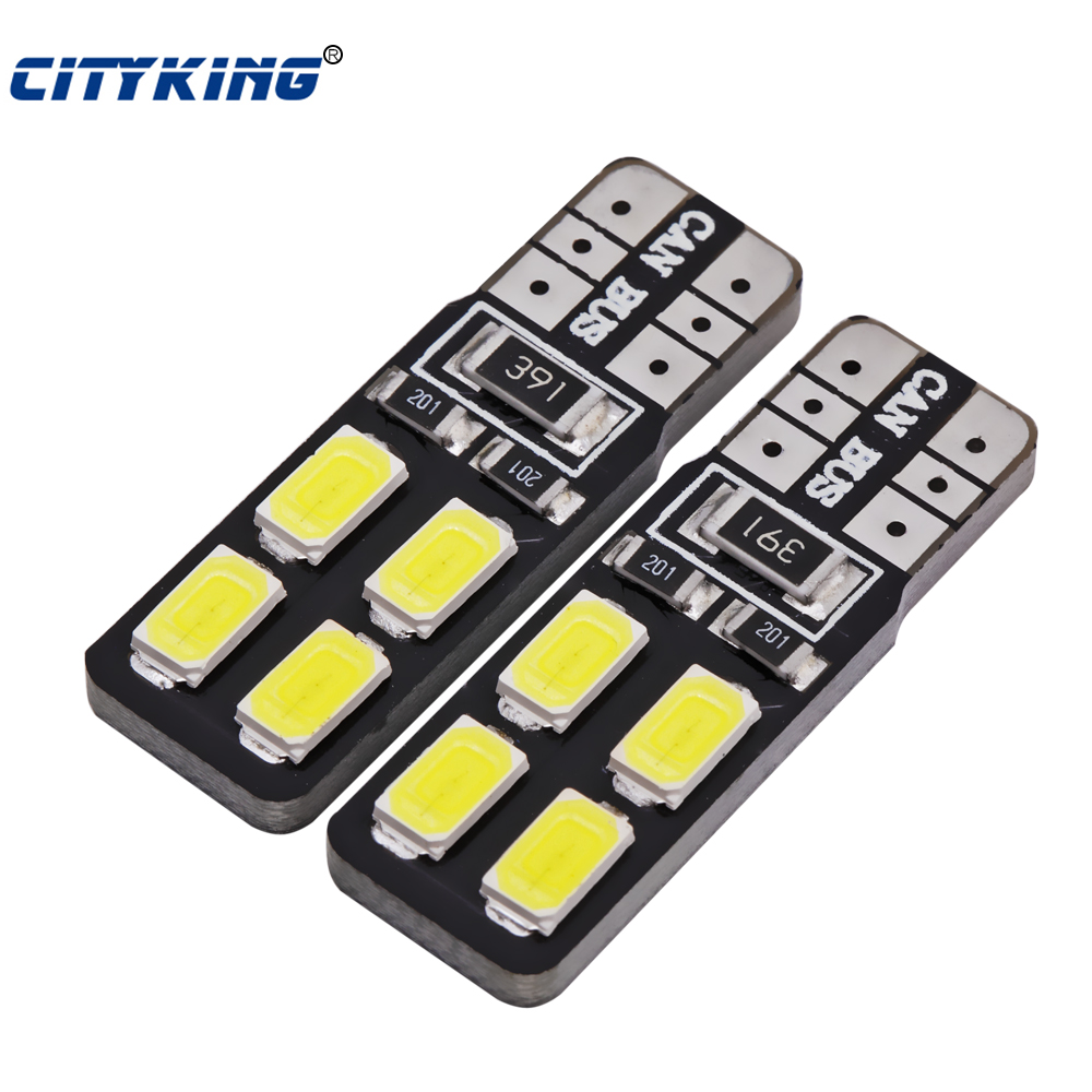 100 x T10 led 8smd Canbus bulb 194 168 W5W led 5630 5730 t10 8LED Car Side Wedge Light Bulb Error Free Auto Car clearance light high t10 canbus 10pcs t10 w5w 194 168 5630 10 smd can bus error free 10 led interior led lights white 6000k canbus 300lm