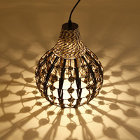 Modern simple rattan chandelier Personality Creative Restaurant Bar Corridor Lamp gourd line table lamps and lamps
