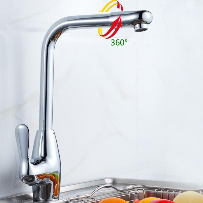 Comprar L17252 lujo cromo montado acabado latón grifo de la cocina de kitchen tap fiable proveedores en Xinli Sanitary Ware Flagship Store