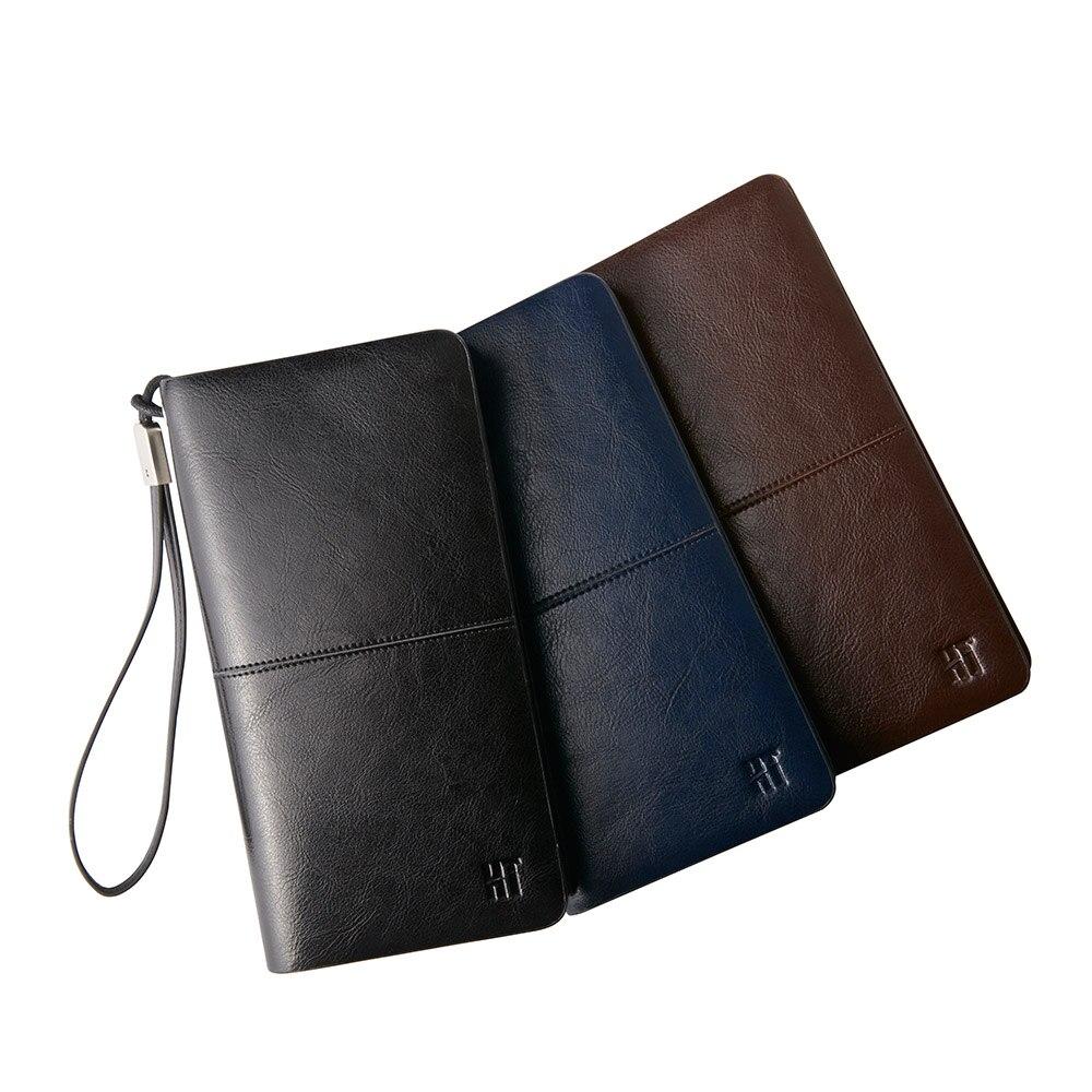 Hot Sale 2016 Fashion Men Business Long Zipper Clutch font b Handbag b font Solid Wallet