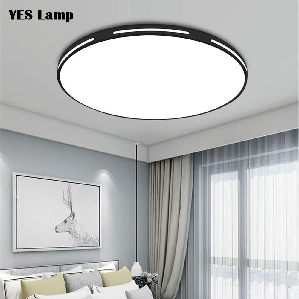 Modern LED tavan ışıkları kısılabilir dekorasyon fikstür çalışma yemek odası yatak odası oturma odası balkon tavan lambası AC90-265V