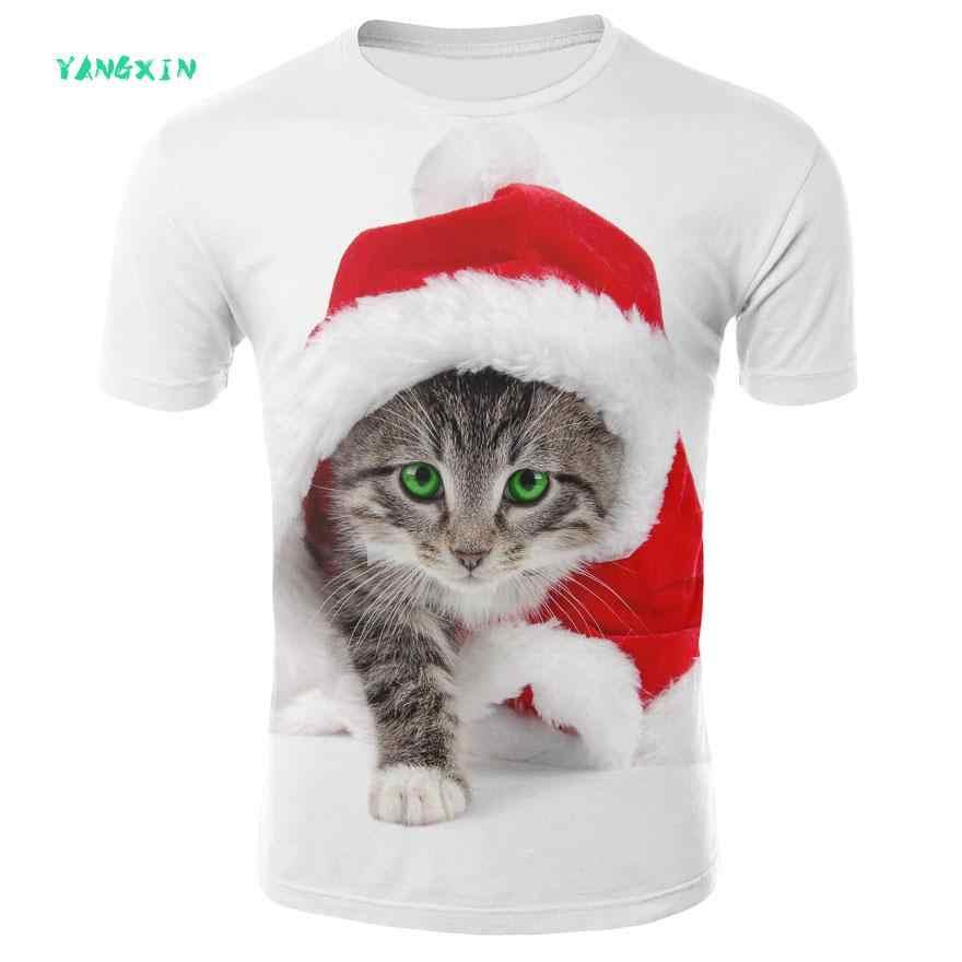 2019 новая футболка мужские/женские модели 3D футболка с круглым вырезом принт волшебный кот молния Звездное с коротким рукавом лето