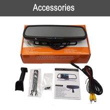 Pantalla de espejo retrovisor del coche, montaje de cámara, soporte de monitor, cambio de brillo automático, Cámara de visión frontal de atenuación, Monitor LCD TFT