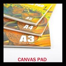 10 листов/упаковка, масляная Акриловая картина, Холщовый коврик, Бумажная книга, 280 г, холщовая бумага для рисования A3/A4/A5