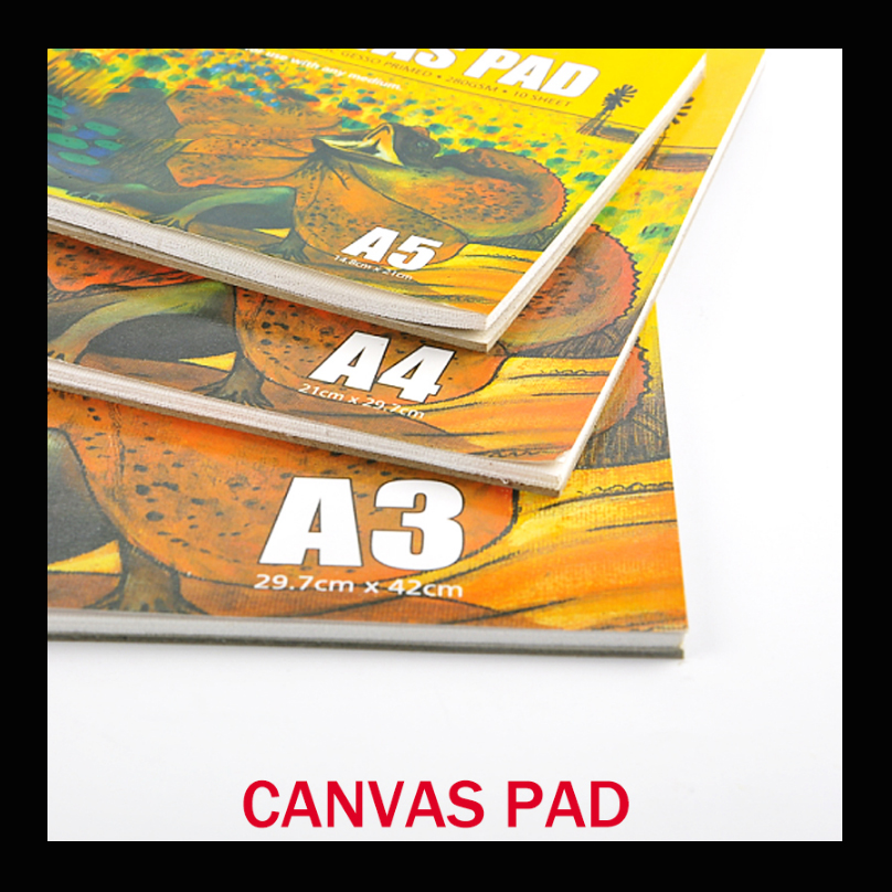 10 Sheet/pack Oil Acrylic Painting Canvas Pad Paper Book 280g Painting Canvas Paper A3/A4/A5