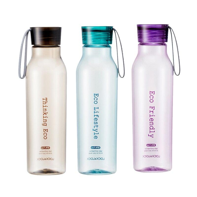 Tasses créatives cruche de sport en plastique avec bouteille d'eau en verre extérieure Portable en plastique