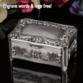 Classic fashion metal jewelry case/ jewelry box /showing display, flower,engrave words free,wedding gifts for bride Bridesmaid