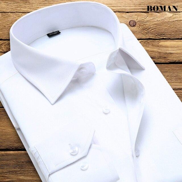Mens White Shirt French Cuff Long Sleeve Dres Shirt Men Business Shirt Famous Brand Slim Fit Dress Shirt Casual Social Overhemd