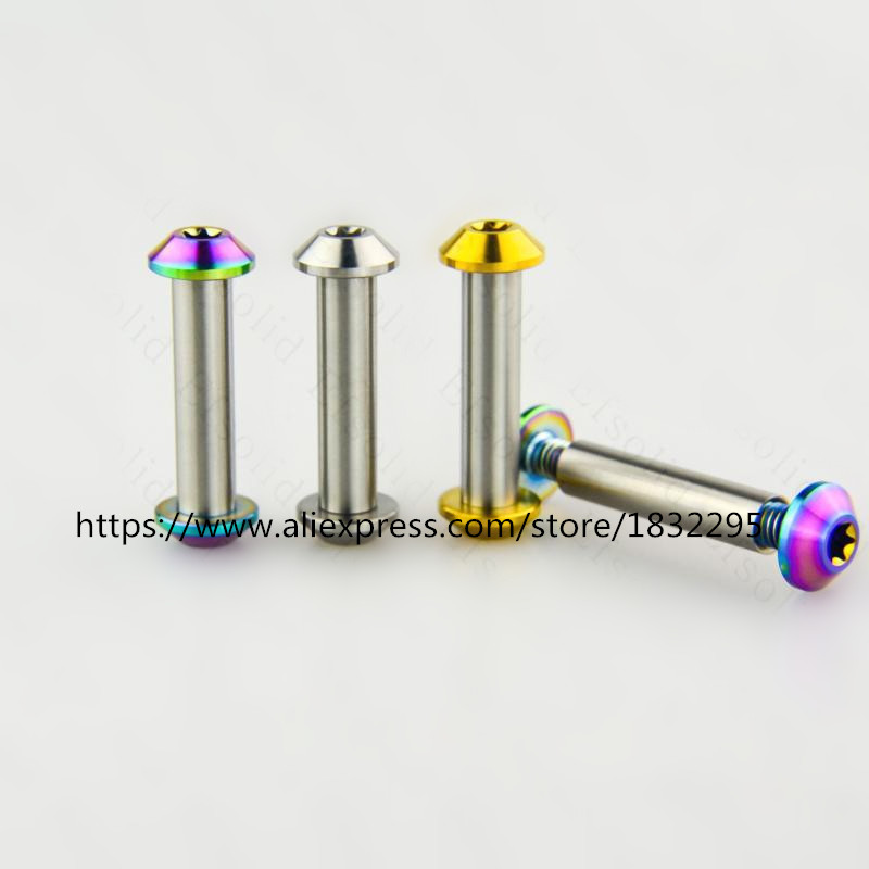 1 pcs M6& 8*33mm Titanium alloy Scooters roller skates cycle bike bicycle shock absorbers Nut & Bolts Screws