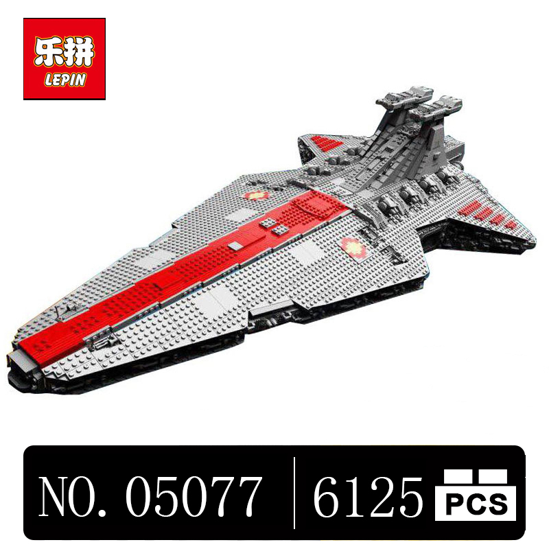 DHL Lepin 05077 6125PCS Star Classic Wars The Ucs ST04 Set Republic Cruiser Educational Building Blocks Bricks Toys lepin 05077 stars series war the ucs rupblic set star destroyer model cruiser st04 diy building kits blocks bricks children toys