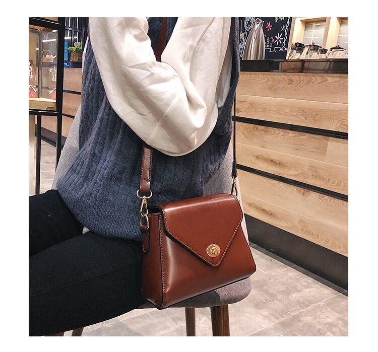 European Fashion Retro Ladies Square bag 2018 New High quality PU Leather Women's Designer Handbag Lock Shoulder Messenger Bags 13