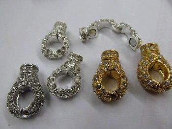 unique round margnetic clasp silver rose gold antique black assortment connectors 35mm 50pcs