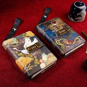 Image 4 - Kawaii A6โน้ตบุ๊คและวารสารSPIRAL Vintage Note Book Luxury DIY Agenda Planner Organizer Diary Travel Notepadล็อคของขวัญ