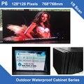 Дисплей led video TV открытый светодиодный P6 фиксированная установка железа водонепроницаемый Корпус 768 мм * 768 мм 1/8 сканирования светодиодный модуль кабинета