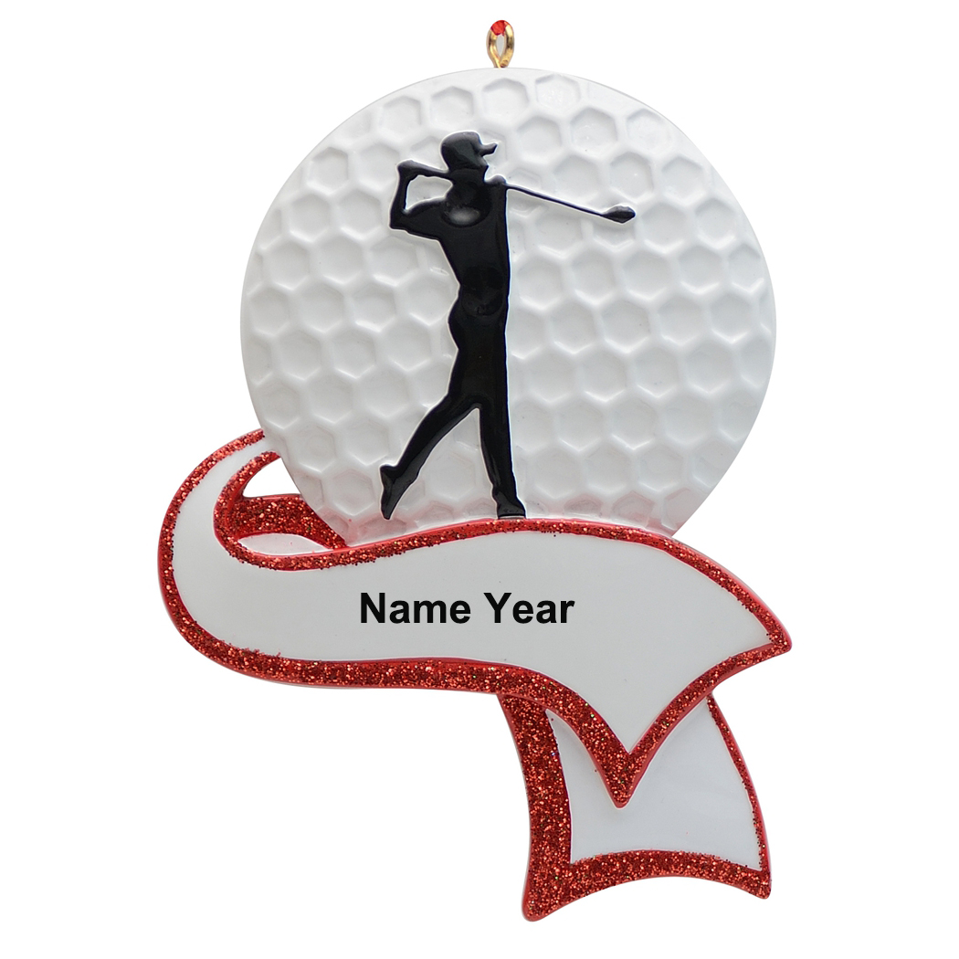 MAXORA Boy Golf Player Athlete Sports Christmas Ornament Personalized Gift Christmas Decorations for Home in Pendant Drop Ornaments from Home Garden