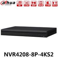 Dahua Original NVR4208 8P 4KS2 8CH 1U 8 POE 4K H.265 Lite Network Video Recorder H265 With 2SATA Replace NVR4108 8P 4KS2