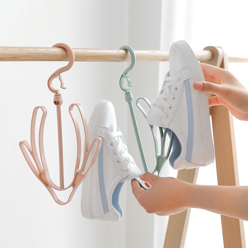 Convenient Double Hook Windproof Drying Shoe Rack Drying Rack Balcony Drying Shoes Hanging Shoes Hanger Hook