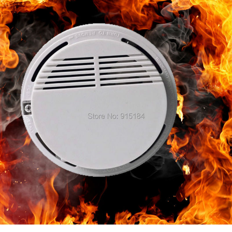 Wireless Smoke Detector High Sensitive Fire Alarm Sensor Monitor for Home Security,Photoelectric Smoke Alarm