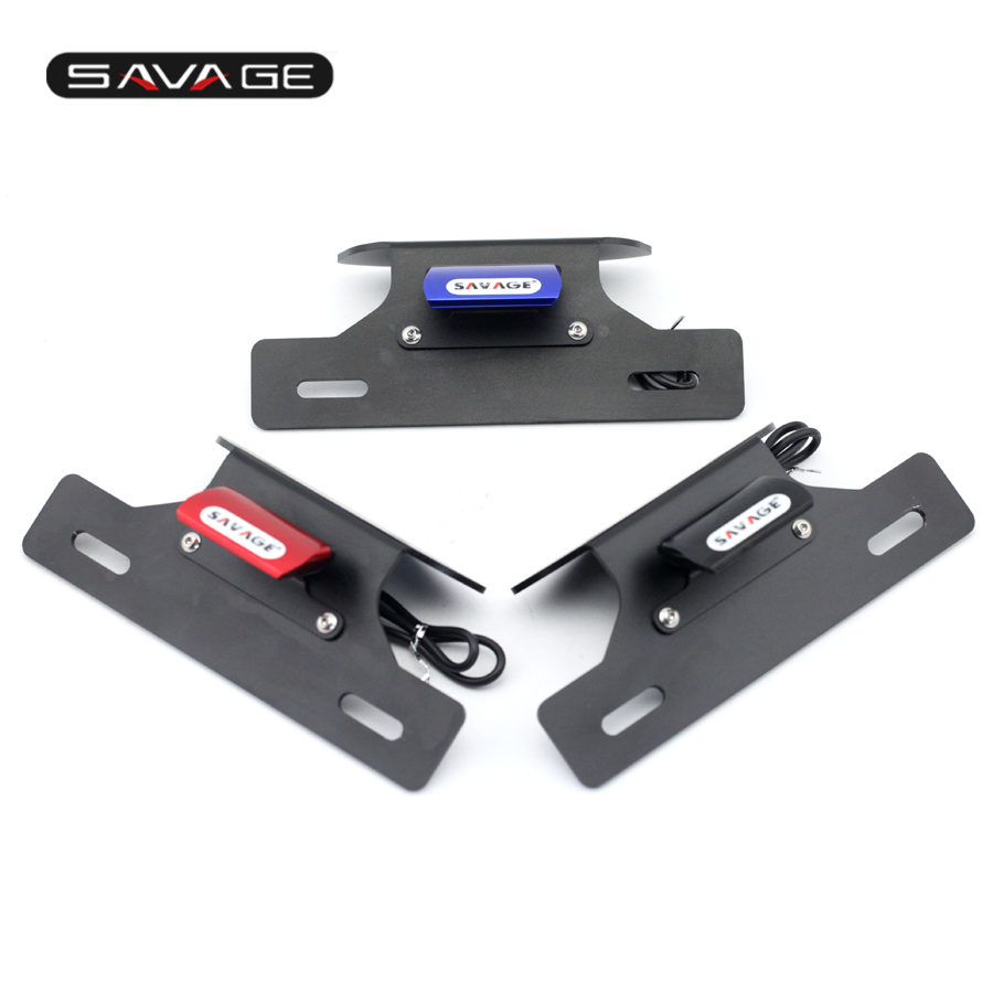 For SUZUKI GSXR600 GSXR75 GSX-R 600/750 11-15 Red/Blue/Black Fender Eliminator Registration License Plate Holder Bracket LED motorcycle tail tidy fender eliminator registration license plate holder bracket led light for ducati panigale 899 free shipping
