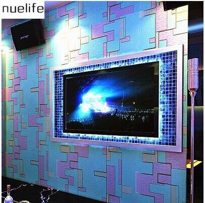 ФОТО 0.53x10m KTV wallpaper popular special strip pattern wave pattern wallpaper ballroom ktv theme room bedroom wallpaper