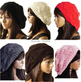 Free Shipping 2014 New 10pcs/lot Hot Women Lady Fashion Warm Winter Beret Braided Baggy Beanie Hat Ski Cap