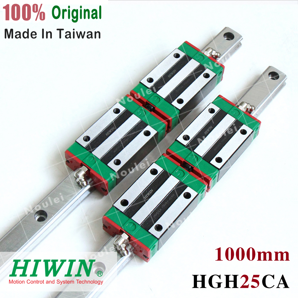 HIWIN HGH25 CNC Linéaire Guide Rails HGR25 et Diapositives Blocs HGH25CA 25mm HGR 25 R Rails de Guidage Ensemble 1000mm 1050mm