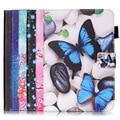 2016 Новая Мода Цветной Печати Красивый Цветок Бабочка Кожа PU Case для Apple iPad mini 1 2 3 4 Крышка funda