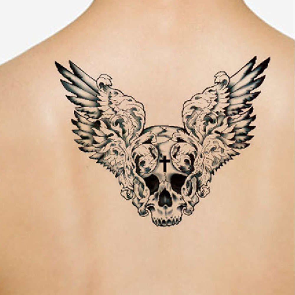 Yeeech Temporary Tattoos Sticker Large Fake Long Lasting Look Real ...