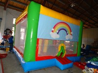 Popular Amusement Park Ride Big Trampolines Bounce House And Slide Combo Kids Playground Equipment