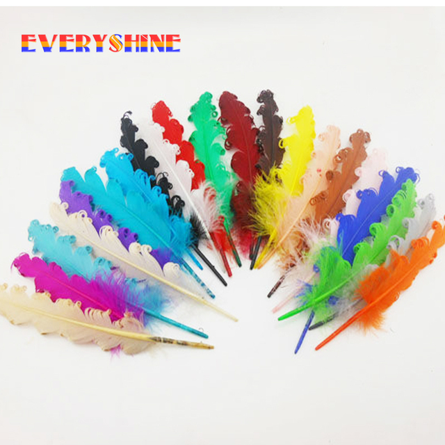 Feather for Sale 24pcs/lot DIY Pheasant Feather Jewelry Accessories Craft Curly Goose Feathers Length 14-18cm IF22
