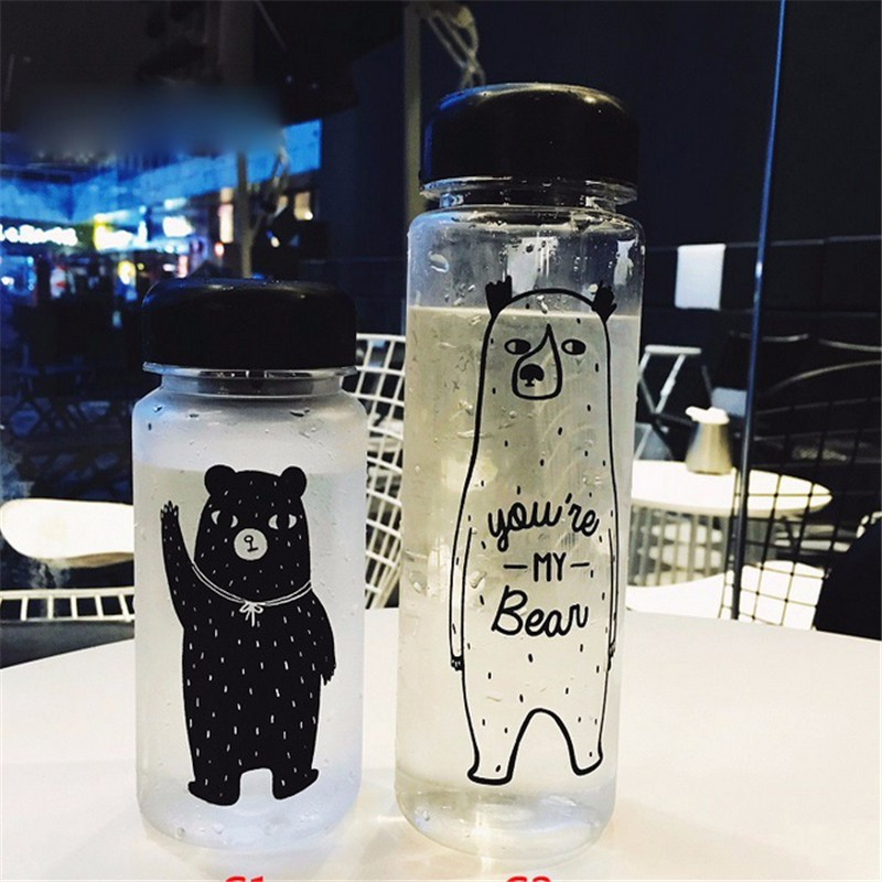 My Fashion Breakproof Water Bottle 19.5x6.5cm Travel Camping Lemon Juice Drinkware Readily Space Bear Bottle 500ml