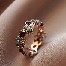 Anel Anel Masculino Austrian Crystal Stellux Color Flower Pattern Love Women Lady Multicolor Ring Elegant Fashion Jewelry R064 цена 2017