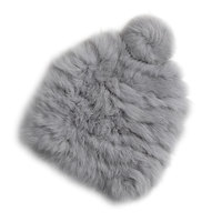 Real rabbit fur Hats 2017 Women's Winter Hats Knitting Rabbit fur caps Skullies Beanies Women Hat solid colors gorros cap