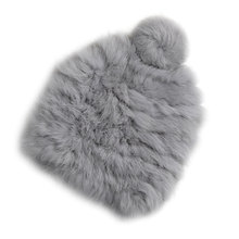 Real rabbit fur Hats 2017 Women's Winter Hats Knitting Rabbit fur caps Skullies  Beanies Women Hat solid colors gorros cap
