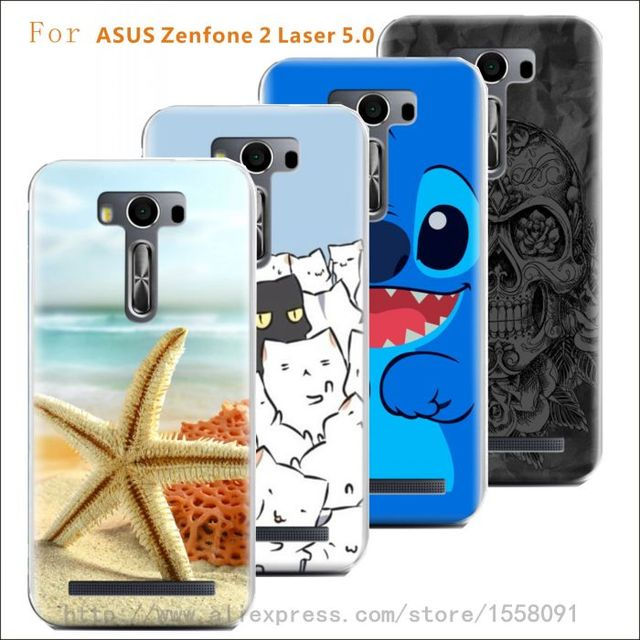 size 40 042cd 7890f US $8.98  Print Cartoon Transparency Plastic Hard Back Cover For ASUS  Zenfone 2 Laser 5.0 Protector Cases Free Shipping on Aliexpress.com    Alibaba ...
